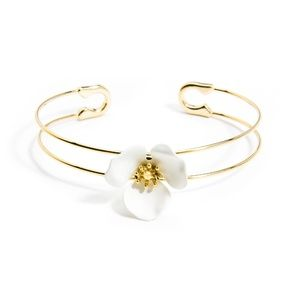 Jewelry - Blooming Cuff in White